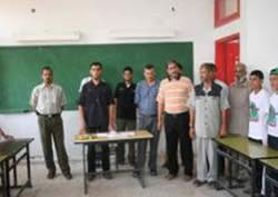 Hamas activists visit the summer camps