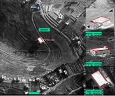 Aerial photos of the region of the explosion.