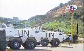 The UNIFIL force at the site of the demonstration in the region of the village of Shuba.