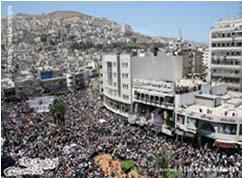 The shopping festival in Nablus