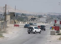 The southern entrance to Jericho after the roadblock was dismantled.