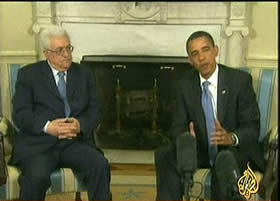 Palestinian Authority Chairman Mahmoud Abbas and United States