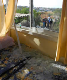 Rocket from the Gaza Strip hits a house in Sderot