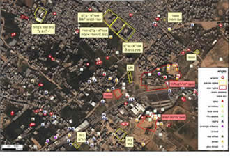 Rocket launch sites near UNRWA schools