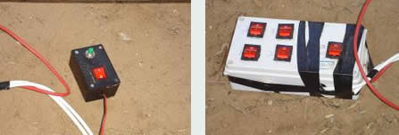 Detonating system found in the school compound intended to be used to bobby-trap the school