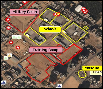 Training camps and a military camp near schools