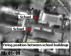 Firing rockets near two school buildings