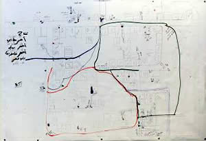 Sketch of the Al-Atatra neighborhood (IDF Spokesman, January 8, 2009).