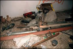 Weapons found in a mosque