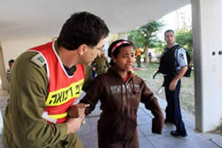 Girl terrified by rocket attack in Ashqelon