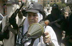 Mother of Abu Yussuf al-Qoqa, senior Popular Resistance Committees terrorist who was killed.
