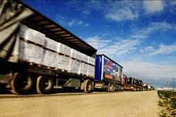 Humanitarian aid delivered through the Kerem Shalom crossing