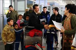 Foreign nationals leaving the Gaza Strip