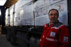 A consignment of humanitarian aid from Syria