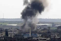 Israeli Air Force raid in Gaza City
