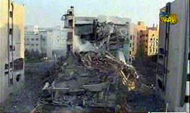 The Islamic University in Gaza following the Israeli Air Force raid