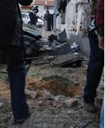 Rocket hit at a synagogue in Sderot on December 29