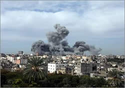 The Israeli Air Force attacks in Gaza City