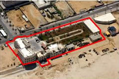 Hamas's main headquarters compound in Gaza City
