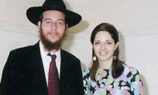 Rabbi Gavriel Holtzberg and his wife Rivka
