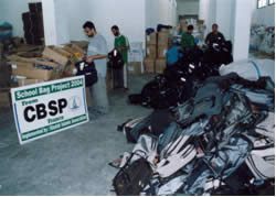 Items donated by the French CBSP