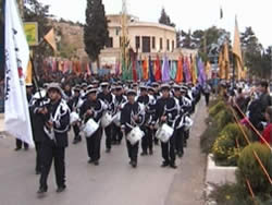 The Scouts on a military parade