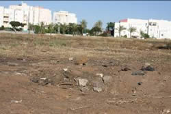 Site of the Hamas rocket hit south of Ashqelon