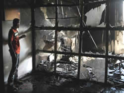 Damages to the American International School in Gaza City