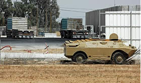 A BRDM armored personnel carrier