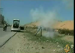 Rocket launchers carried by vehicle