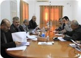 The freedoms committee meets in the Gaza Strip
