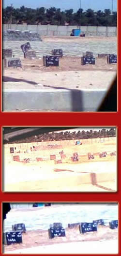 photos of the unmarked graves from the opposition website: www.iranpressnews.com