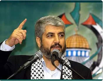 Khaled Mashaal speaks at a rally for Jerusalem in Doha (Qudsmedia.com website, April 7, 2012)