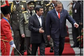 The presidents of Venezuela and Iran, Hugo Chávez and Ahmadinejad, meet in Caracas  (Press TV, January 9, 2012)