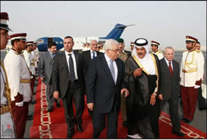 Mahmoud Abbas arrives in Qatar (Wafa News Agency, May 19, 2012).