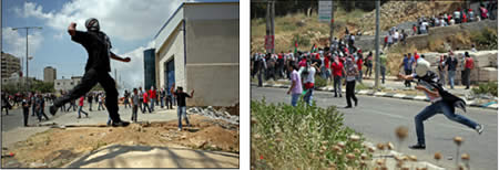 Confrontations and riots in Ramallah on Nakba Day (Wafa News Agency, May 15, 2012).