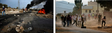 Friday demonstrations in the village of Qadoum, near Nablus (Wafa News Agency, September 29, 2012).