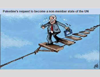 Hamas' view of Mahmoud Abbas' chances of changing the PA's status n the UN.