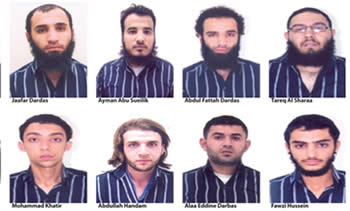 Pictures of the suspects issued by Jordanian News Agency Petra.