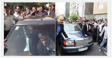 "News websites affiliated with the radical right wing of the conservative camp put up both photographs side by side with the following title: ""The difference between Sa'id Jalili's car and Hashemi Rafsanjani's""."