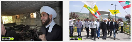 The Syrian Mufti visits the Hezbollah memorial site in Nabatieh, south Lebanon (Bint Jbeil website, May 18, 2013)