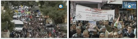 Demonstration in the village of Dura (Hebron region) for the release of Ayman al-Sharawneh (Al-Quds TV, March 3, 2013)