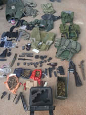 Weapons seized in Judea and Samaria in May 2013 (IDF spokesman, June 6, 2013).