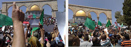 Demonstration in support of Mohamed Morsi organized by the Islamic Movement in Israel (Ardh Knaan, August 16, 2013)