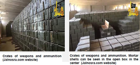Pictures of the Arsenal Issued by the Al-Nusra Front