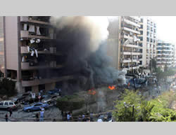 Mass-casualty double suicide bombing attack carried out at the Iranian embassy in Beirut.
