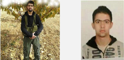Left: Suicide bomber Adnan Musa al-Muhammad (Bint Jbeil website, November 23, 2013). Right: Adnan Musa al-Muhammad in military uniform (Bint Jbeil website, November 24, 2013).