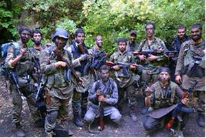 A group of foreign fighters from North Africa photographed in the Latakia region of Syria (Magharebia.com, September 5, 2013).