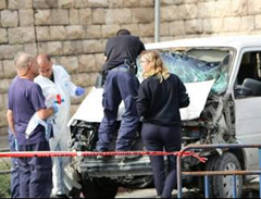 On November 5, 2014, another vehicular attack was carried out in Jerusalem, killing a Border Police soldier and a civilian, wounding twelve, some of them seriously. Hamas rushed to claim that the Palestinian driving the vehicle was one of its operatives, and called for more vehicular attacks.