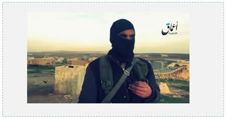ISIS operative, one of two who appeared in the video and admitted ISIS had retreated from Kobanî (Aamaq News Agency, January 31, 2015)